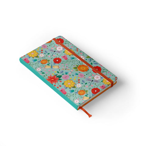 "Daily Planner Notebook - Ana Sanfelippo 5"" x 8.25"" Lined (Seafoam)"