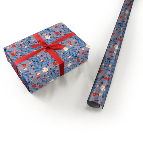 "Wrapping Paper - Ana Sanfelippo Roll (2 sheets) - 27"" x 39"" (Blue)"