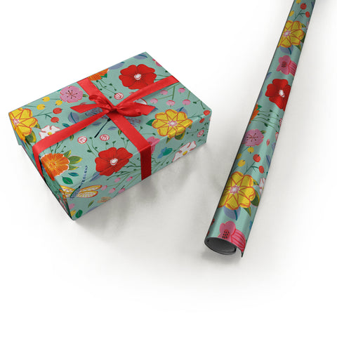 "Wrapping Paper - Ana Sanfelippo Roll (2 sheets) - 27"" x 39"" (Seafoam)"