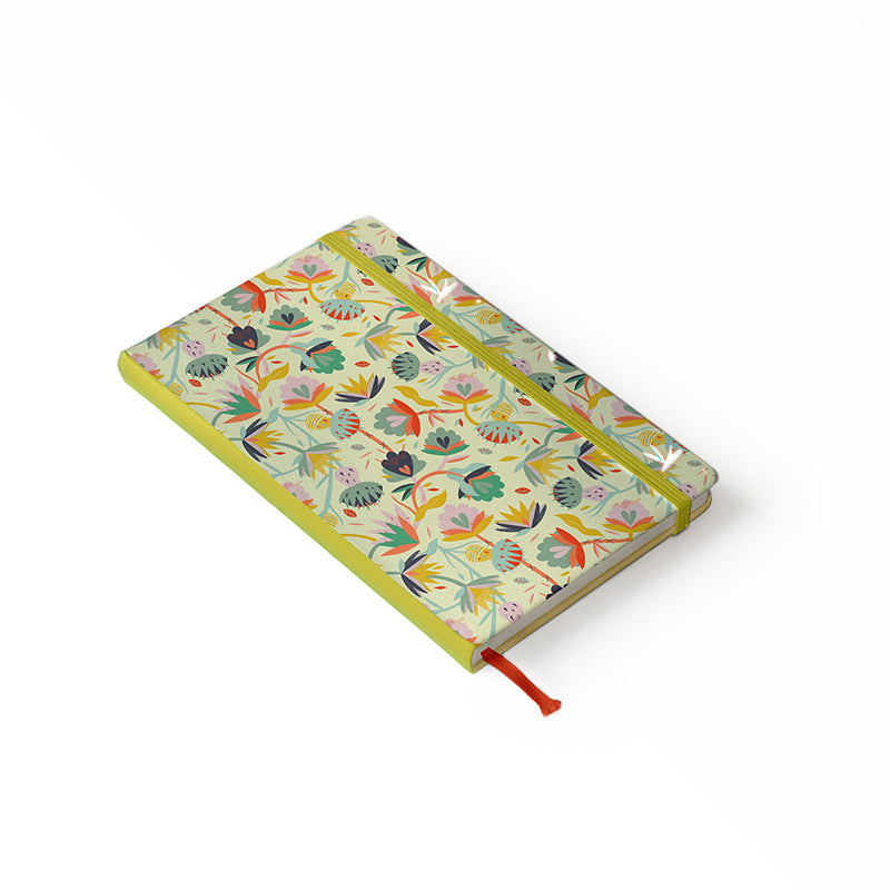 "Daily Planner Notebook - Ángela Corti 5"" x 8.25"" Lined (Yellow)"