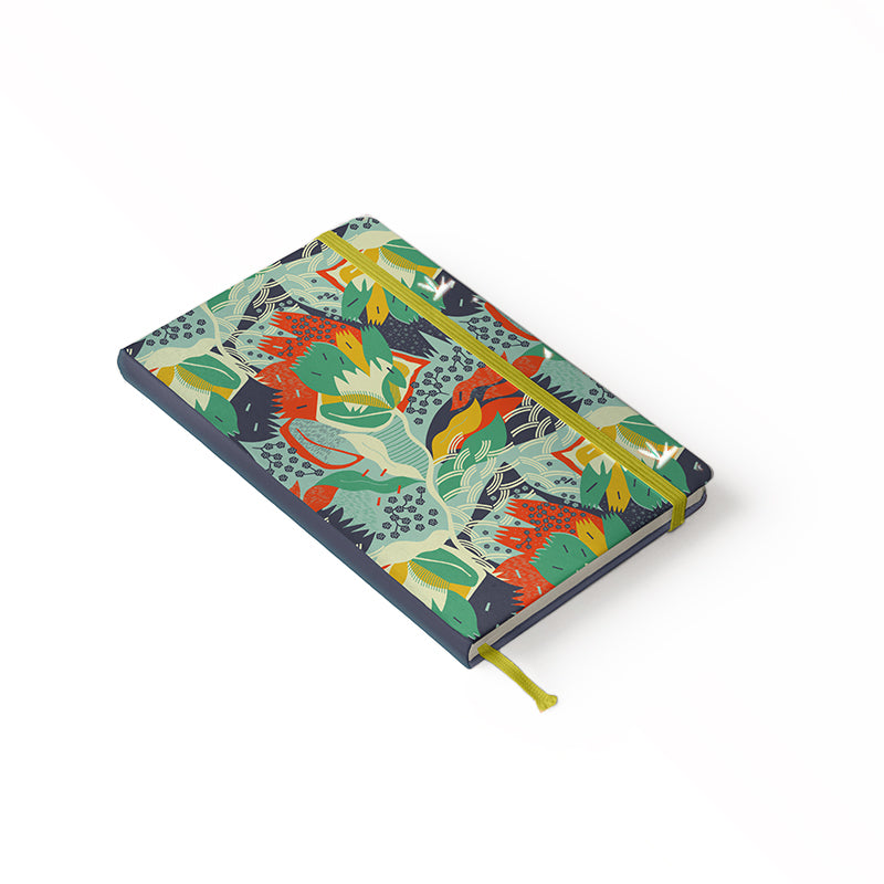"Daily Planner Notebook - Ángela Corti 5"" x 8.25"" Lined (Teal)"