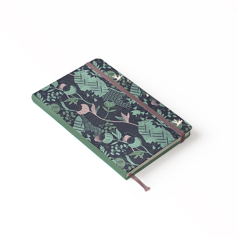 "Daily Planner Notebook - Ángela Corti 5"" x 8.25"" Lined (Navy)"