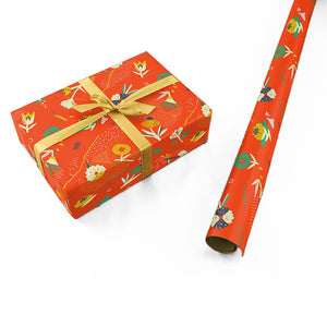 "Wrapping Paper - Ángela Corti Roll (2 sheets) - 27"" x 39"" (Red)"