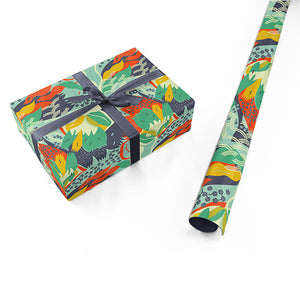 "Wrapping Paper - Ángela Corti Roll (2 sheets) - 27"" x 39"" (Teal)"