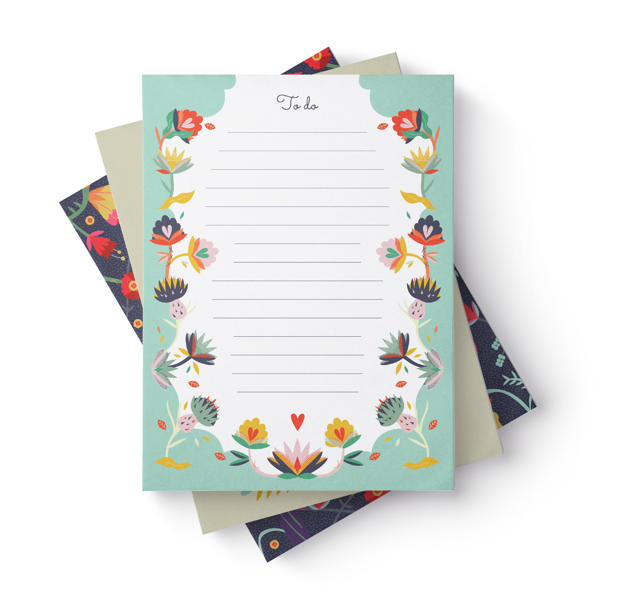 To Do List Notepads (Set of 3) by Angela Corti