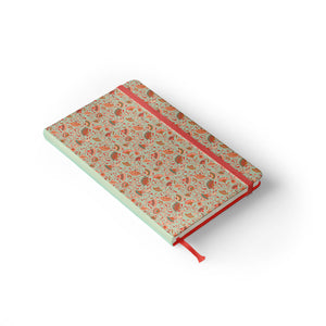 "Daily Planner Notebook - Laura Varsky 5"" x 8.25"" Lined (Light Seafoam)"