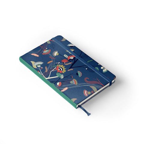 "Daily Planner Notebook - Laura Varsky 5"" x 8.25"" Lined (Royal Blue)"
