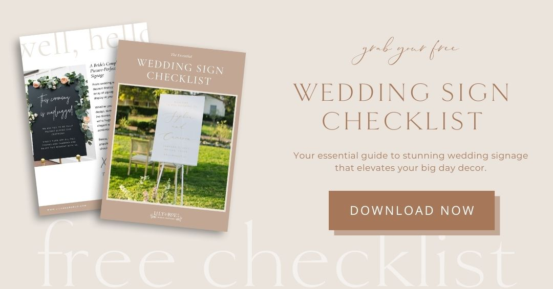 Free Wedding Sign Checklist Opt-In Form