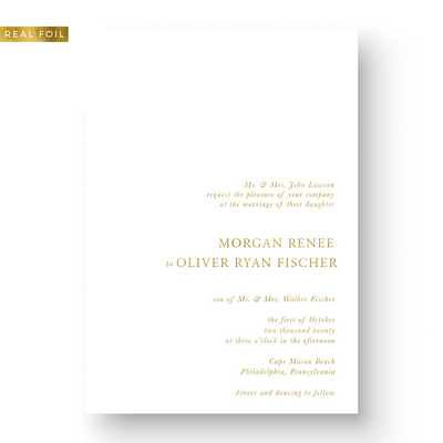 Morgan Foil Wedding Invitation