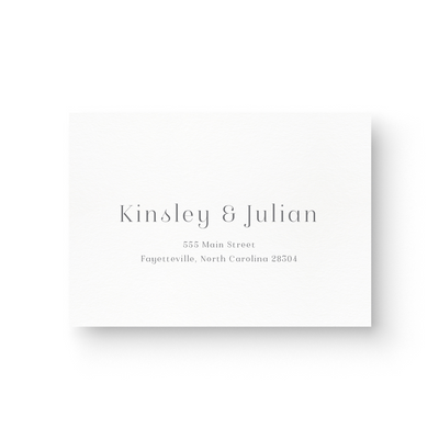 Kinsley Foil Response Card
