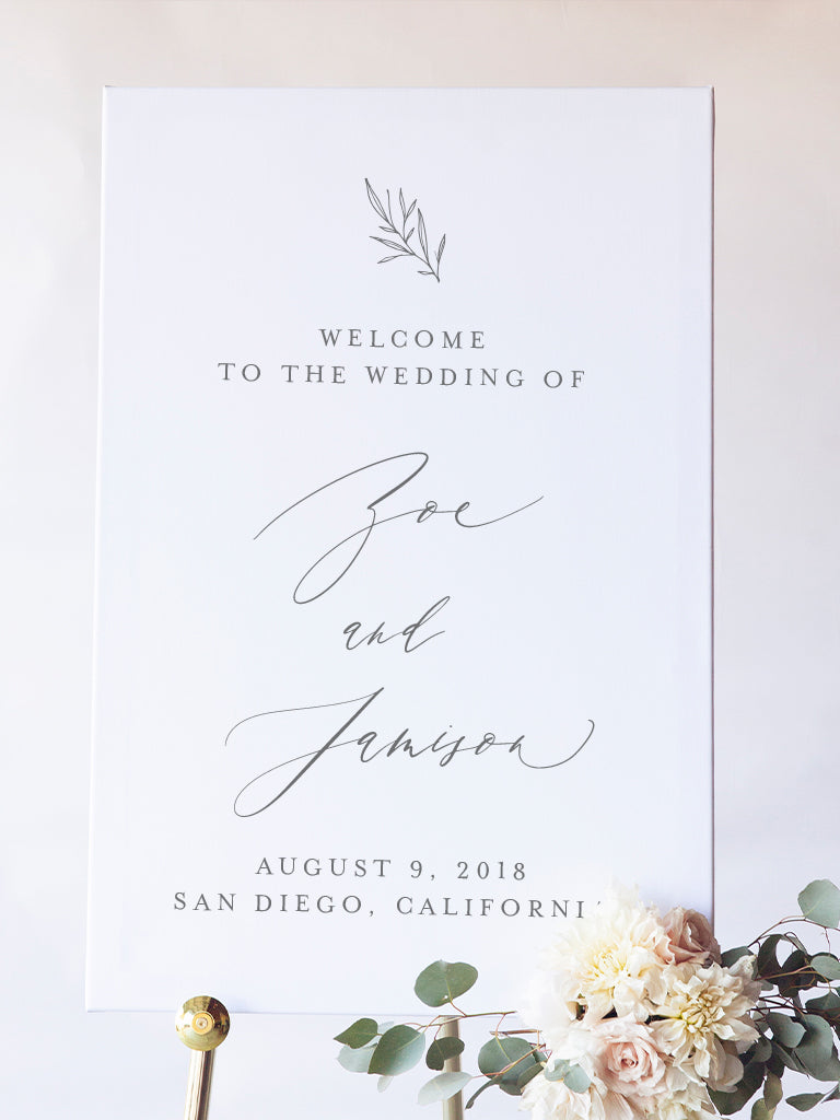Zoe Wedding Welcome Sign
