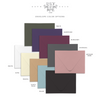 Elegant Foil Save the Date Design envelope color options