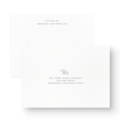 calligraphy Wedding Save the date with greenery envelopes