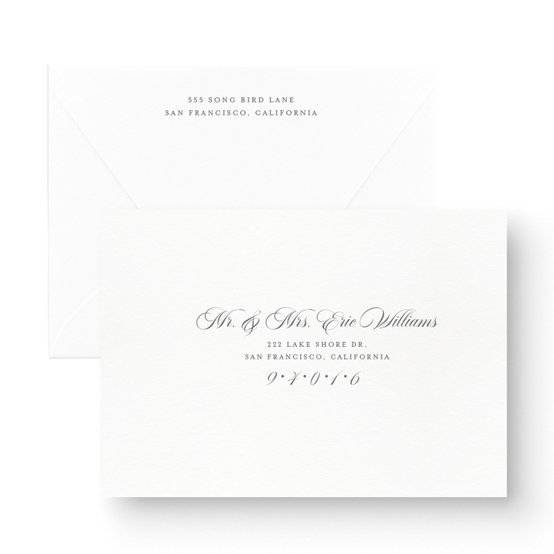 Classic Foil Stamped Save the Date Card