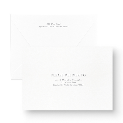 Simple Black & White Save the Date minimalistic envelope