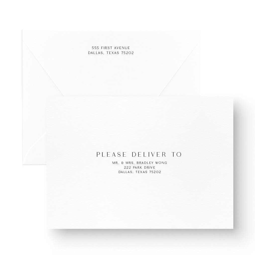 Modern Letterpress Save the Date Card Minimal
