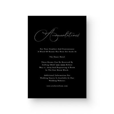 Ava White Ink Details Card