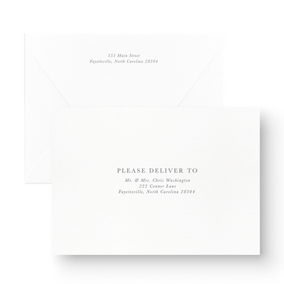 Floral Foil Save the Date Card Guest Addressed Envelopes