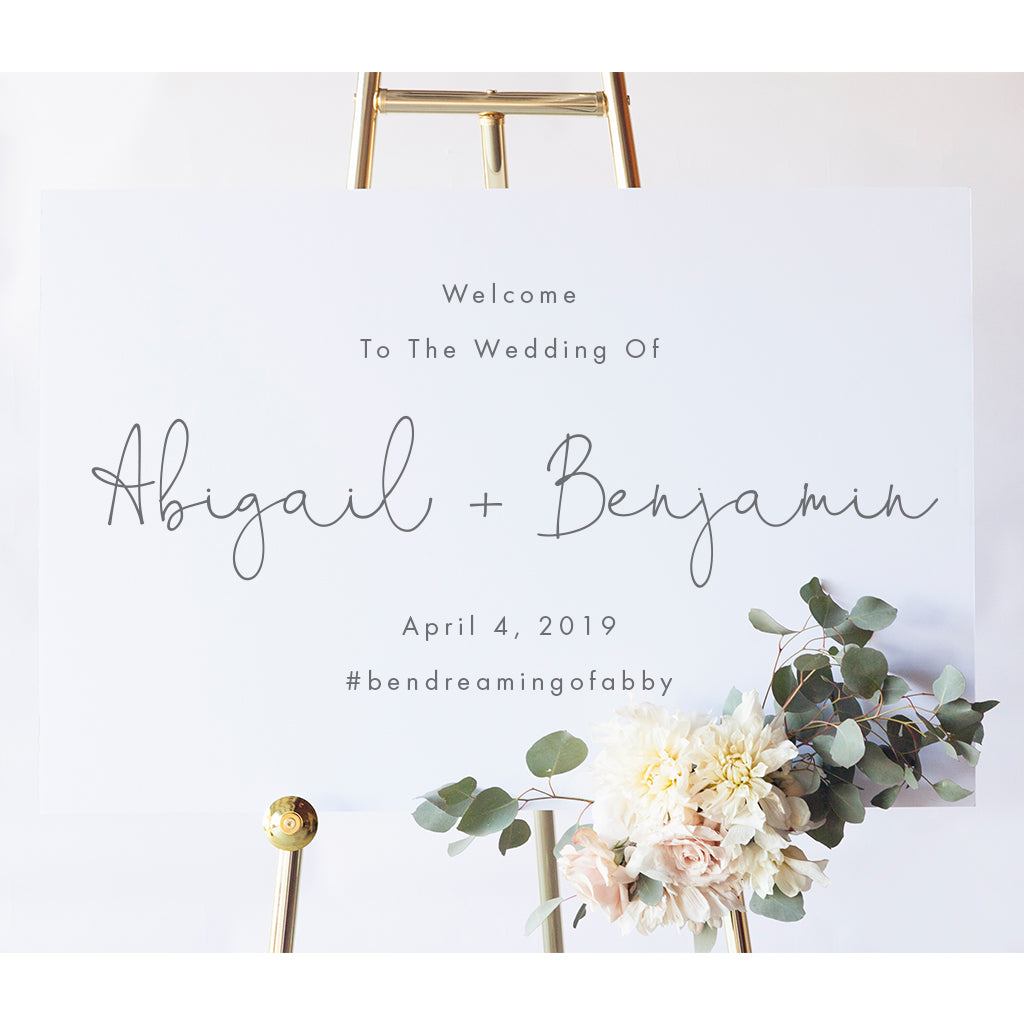 Abigail Wedding Welcome Sign