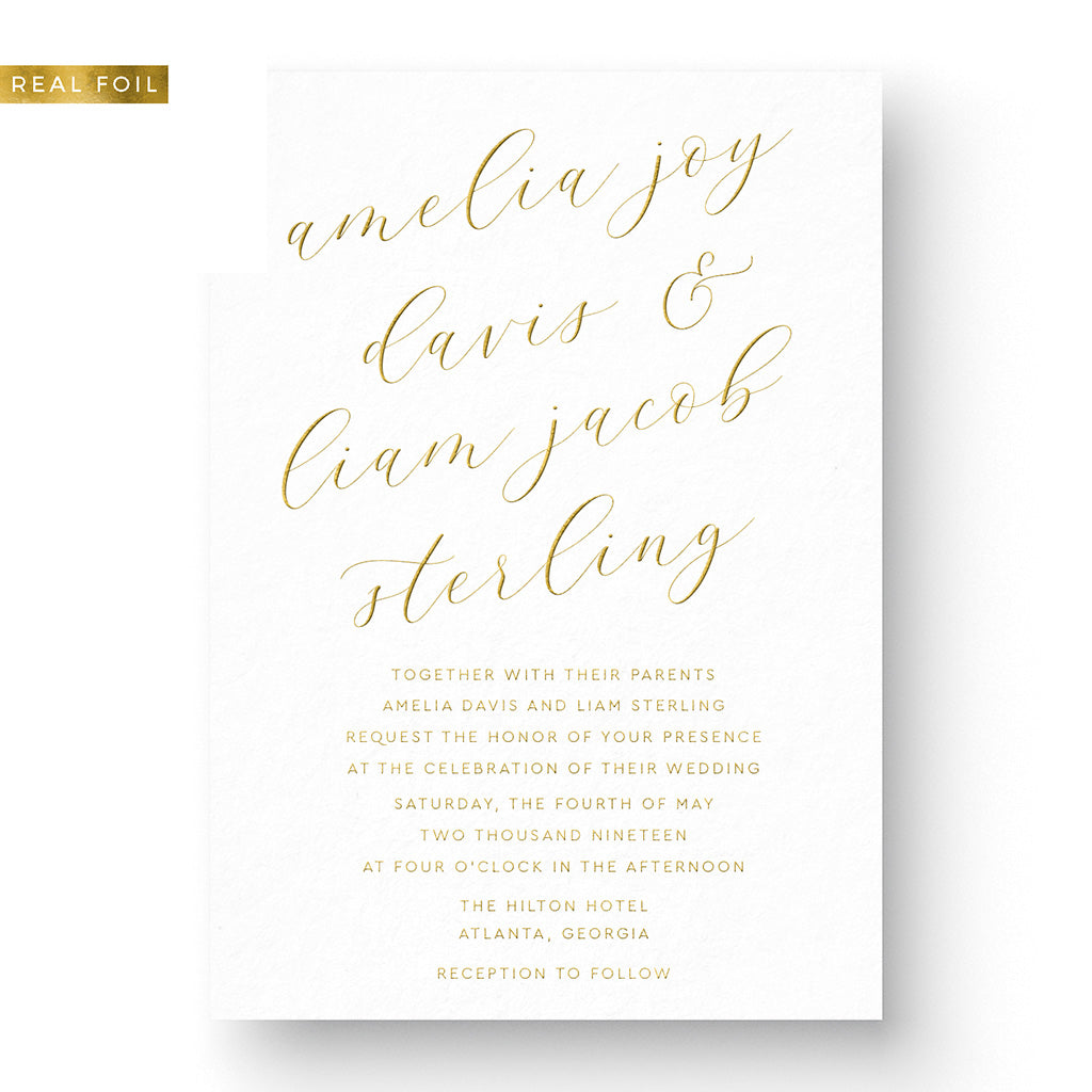 Amelia Foil Wedding Invitation