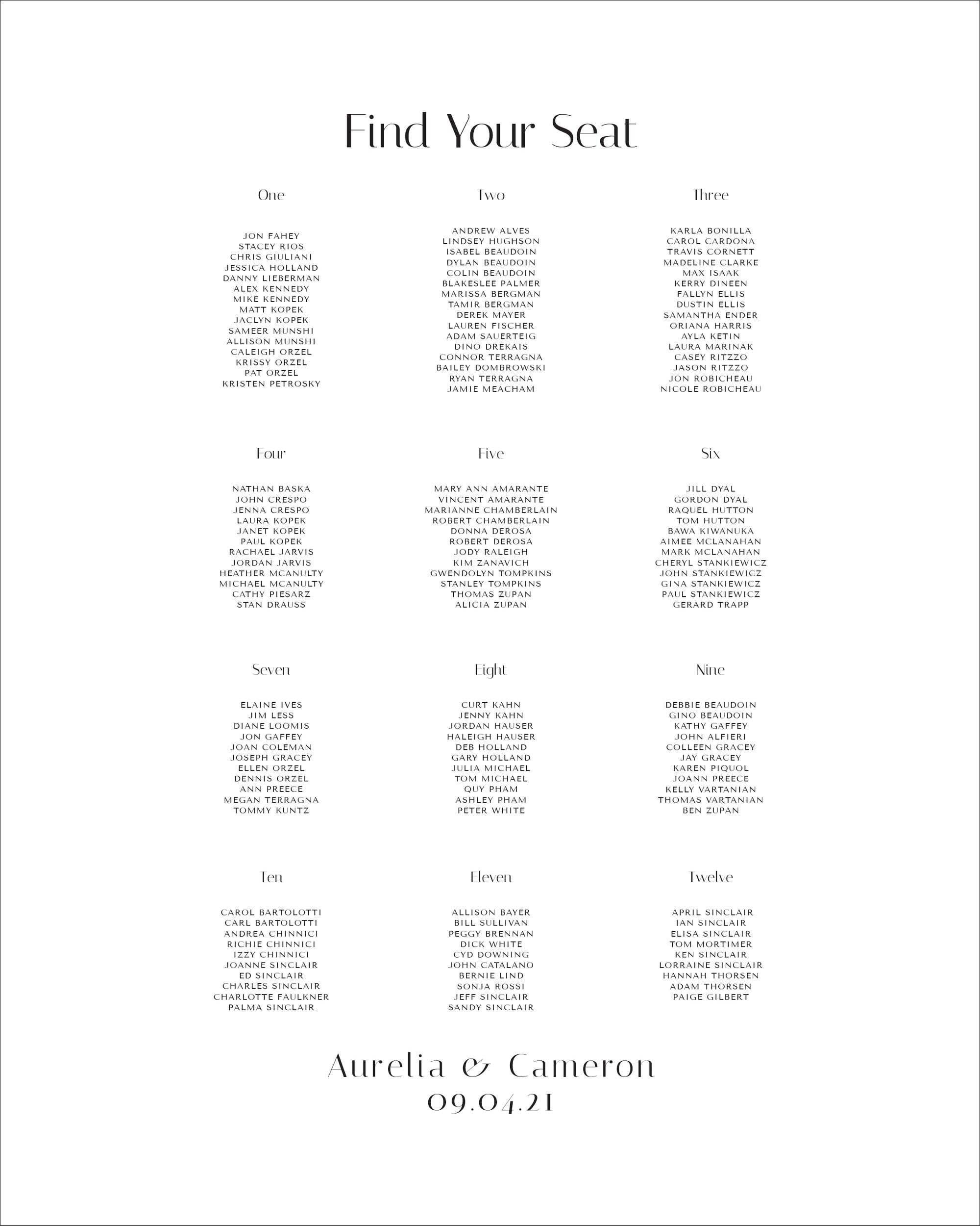 Wedding Seating Chart Board | The Aurelia