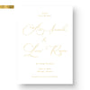 Classic gold Foil Save the Date