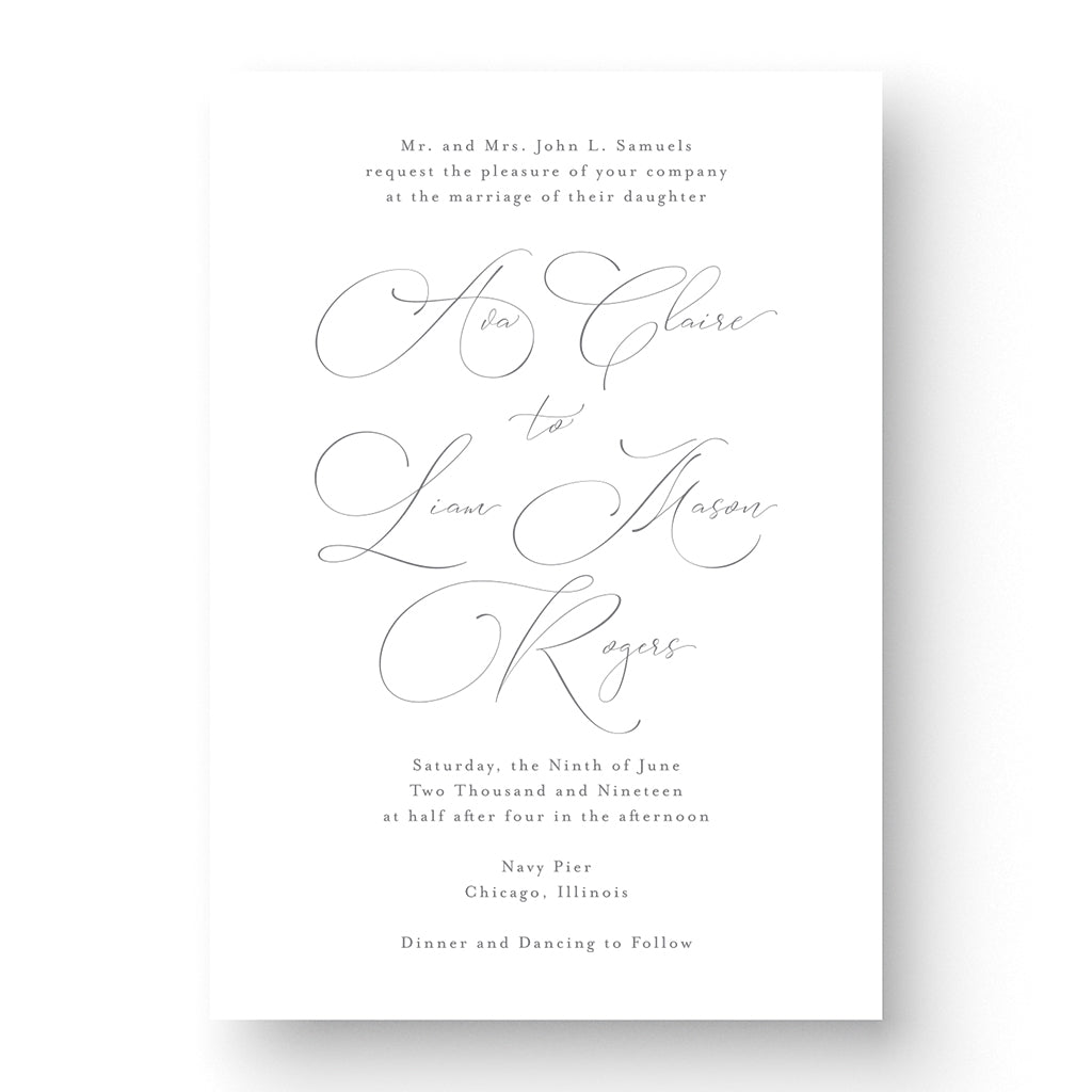 Ava Wedding Invitation