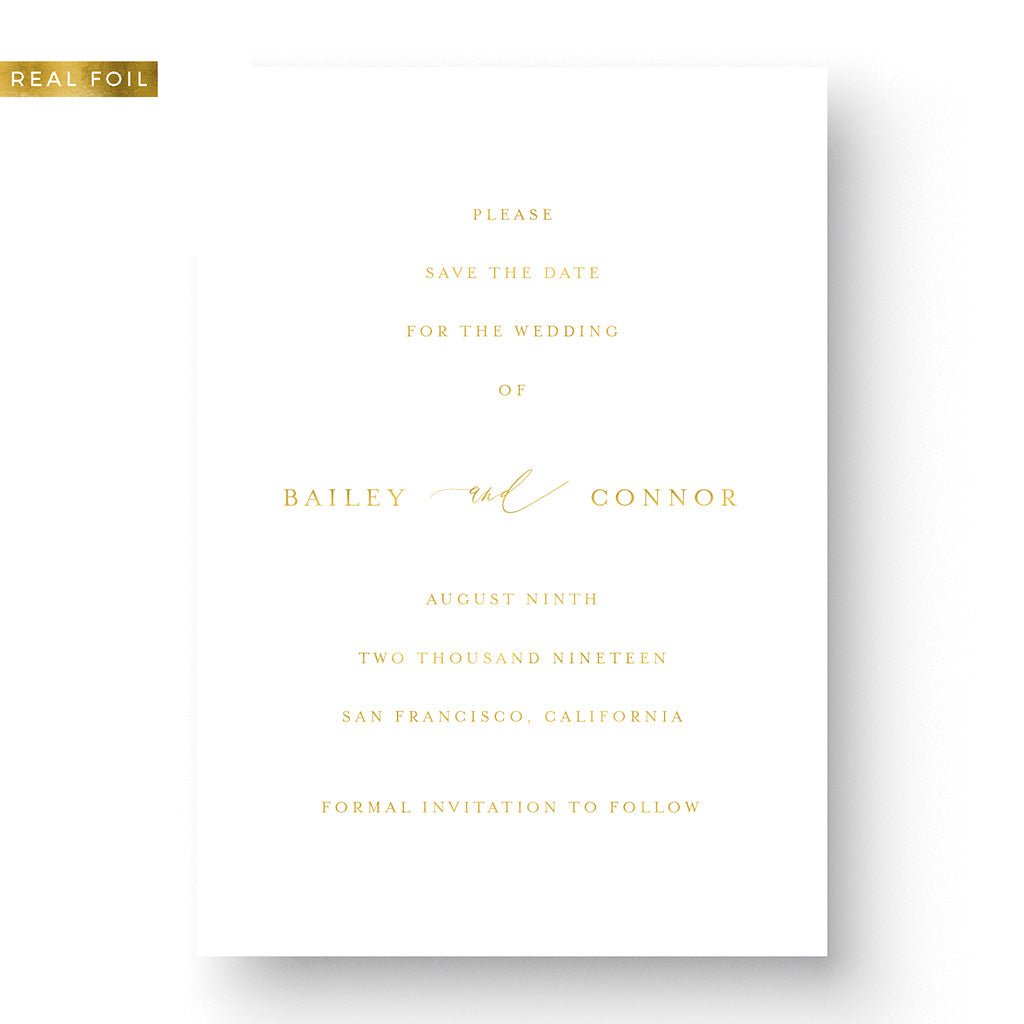 Bailey Foil Save The Date