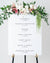Wedding Schedule Sign | The Bailey