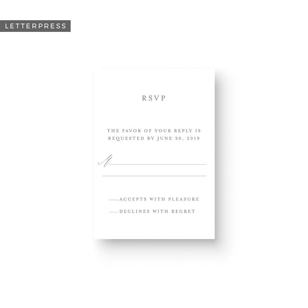 Bailey Letterpress Response Card