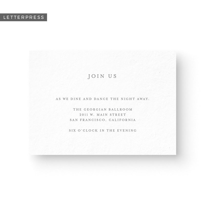 Bailey Letterpress Details Card