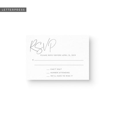 Brittany Letterpress Response Card