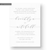 Brooklyn Letterpress Wedding Invitation