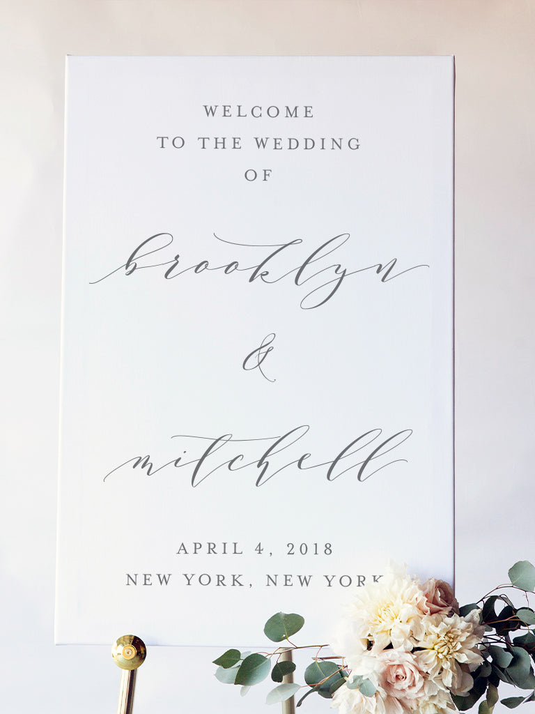 Brooklyn Wedding Welcome Sign