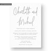 Charlotte Letterpress Wedding Invitation