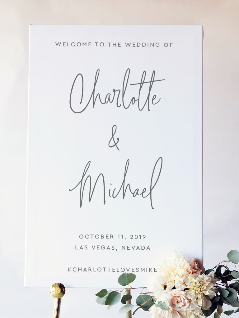 Charlotte Wedding Welcome Sign