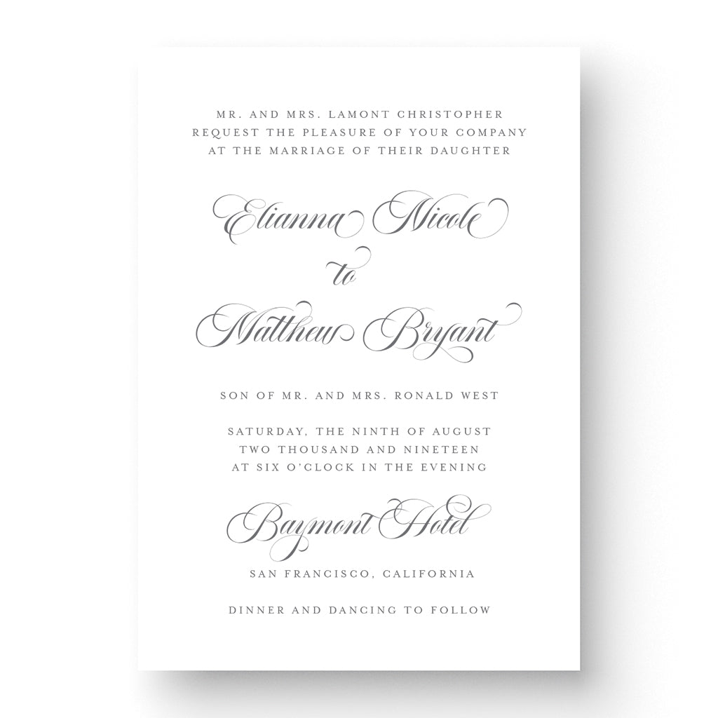 Elianna Wedding Invitation
