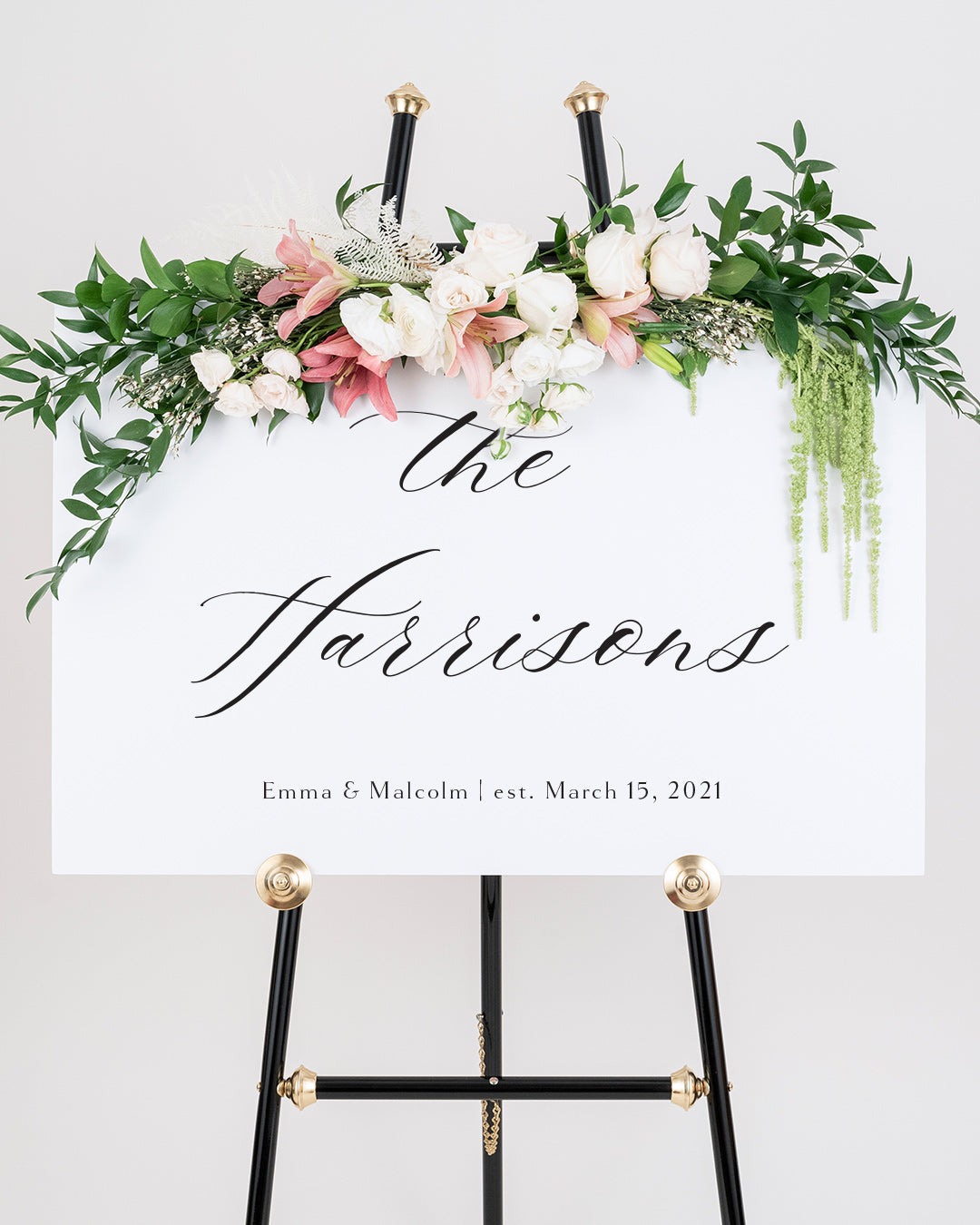 Last Name Sign For Wedding | The Emma