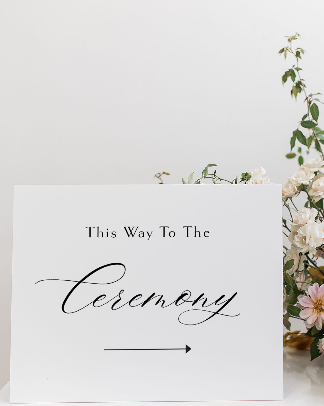Wedding Directions Sign | The Emma