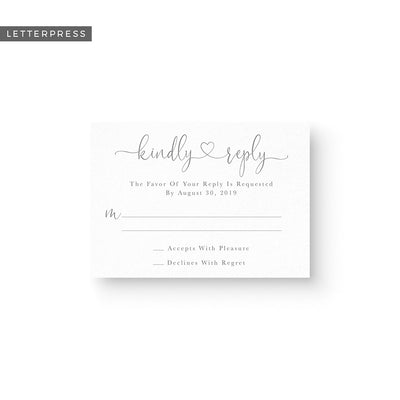 Evelyn Letterpress Response Card