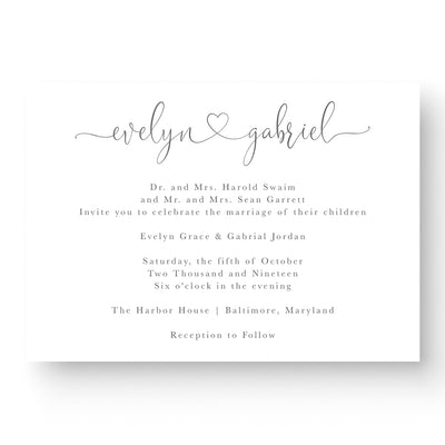 Evelyn Wedding Invitation