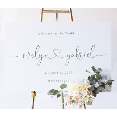 Calligraphy Wedding Signs | Evelyn Wedding Welcome Sign
