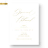 foil wedding save the date card calligraphy gold foil