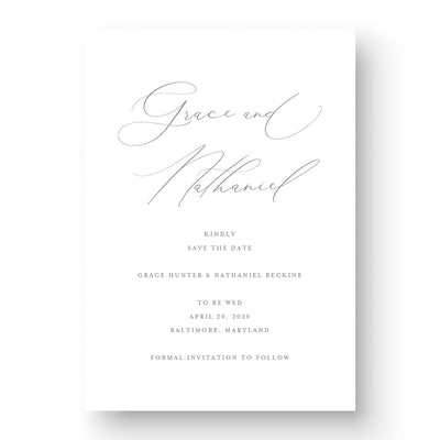 elegant wedding save the date card