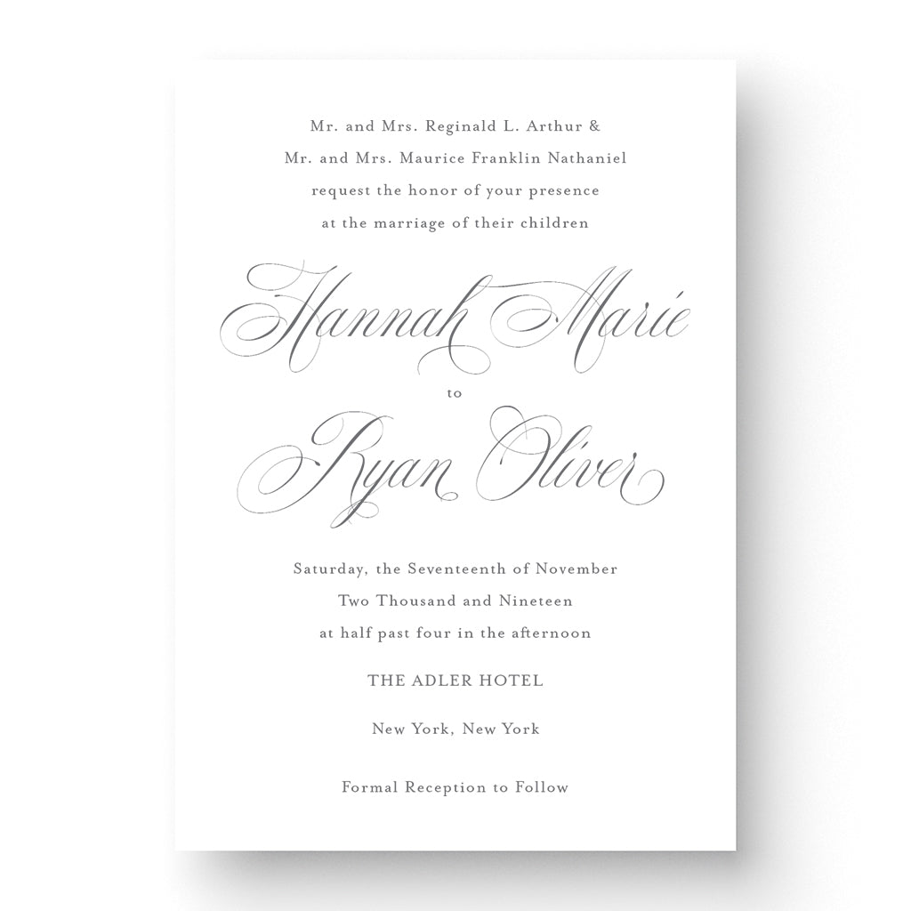 Hannah Wedding Invitation