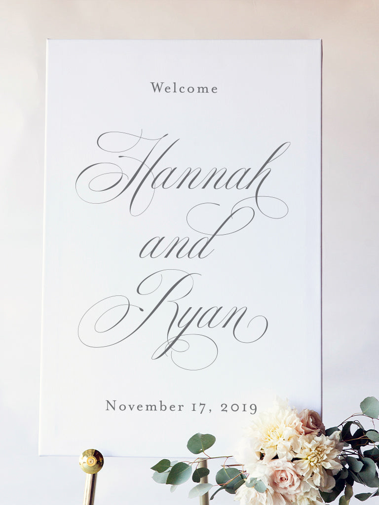 Hannah Wedding Welcome Sign