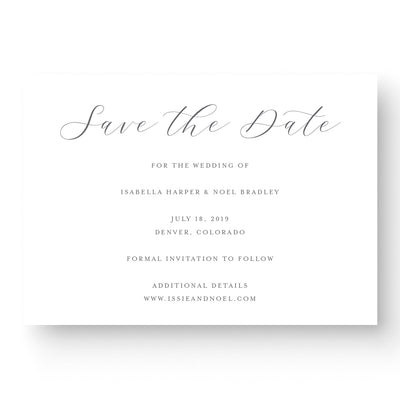 Luxury Save the Date with Calligraphy