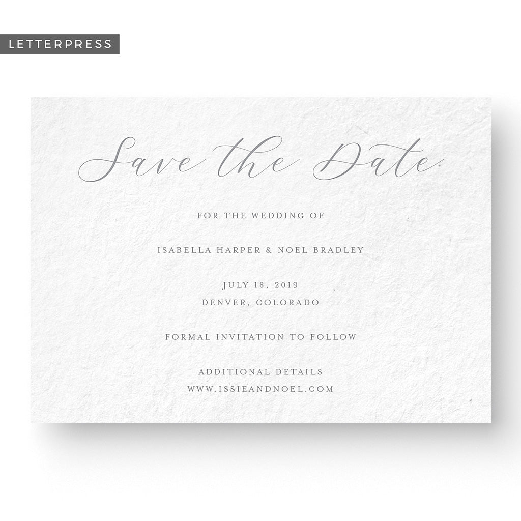 Unique Letterpress Save The Date
