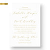 handwritten font calligraphy wedding invitations gold foil rose gold foil