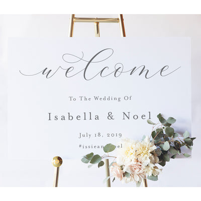 Elegant Wedding Welcome Sign  | Isabella